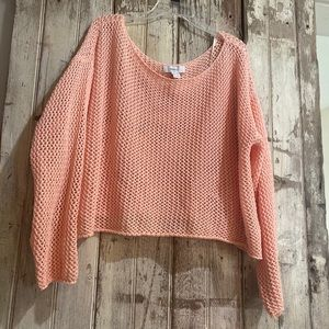 Forever 21 pink knit crop top